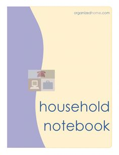 Notebook Cover | Free Printable Household Notebook