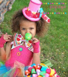 Mad Hatter Costume Tutu Dress 12months5t  by MyaPapayaBoutique, $65.00