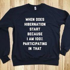 Hibernation Sweatshirt | Spotted on @keep