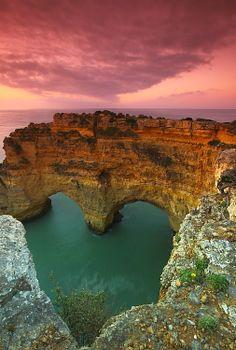 Heart Sea Arch, Portugal #springbreak #springbreakplanning travel #vacation #roadtrip #springbreakideas #lovetotravel #travelinspiration #vacationideas www.gmichaelsalon.com