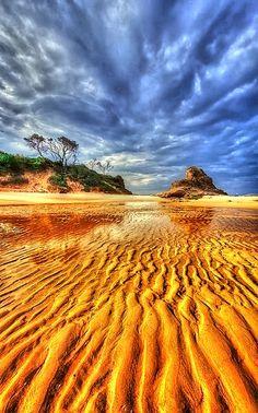 Tide Left Beauty In Sand