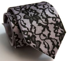 #Lace it up Wedding Tie