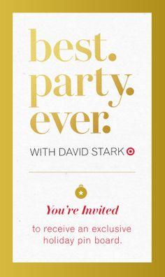 christmas parties, holiday parties, target pin, holidays, david stark, parti plan, house parties, holiday hous, bestpartyev