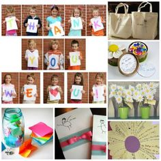 12 Wonderful Teacher Appreciation Gifts that Kids can help make.