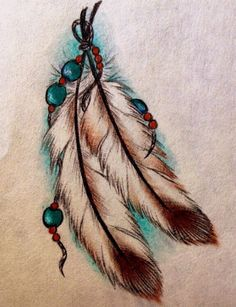 feather tattoo ... like this one too ... i don't know how I feel about colors though ... ??!?