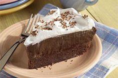 Brownie Bottom Pudding Pie recipe. Gotta have my chocolate!   #kraftrecipes