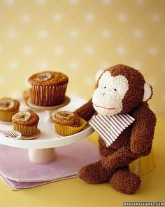 Banana Muffins - Martha Stewart Recipes...of course you need a little monkey or two to share with!