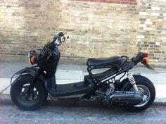 Black Honda ruckus custom