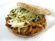 Skinny barbecue chicken sandwiches