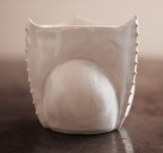 Abigail Wolf Vase, 100% handmade and crafted ceramic small vase/keepsake by potter artist Abigail Wolf. Available in white with artisanal details and texture. Each one is completely one of a kind and no two are the same. A special piece of art to have in the home and on your shelf.