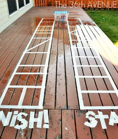 super cuteness & maybe fun for a birthday party?   Making your deck a GAMEBOARD!
