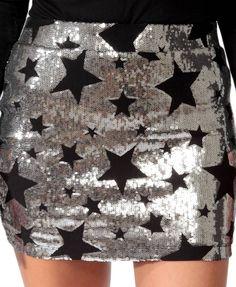 Sequined Stars Skirt | FOREVER21 - 2027705689