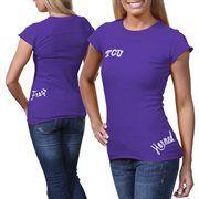 TCU Horned Frogs Ladies Alleviation Slim Fit T-Shirt - Purple