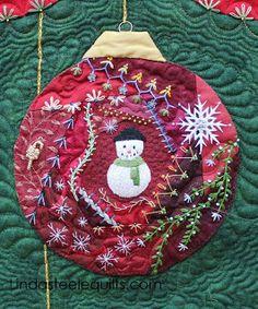 holiday, steel quilt, linda steel, christma crazi, quiltscrazi, quilt blog, quilt idea, embroideri, crazi quilt