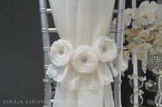 Trio Fabric Flower S...
