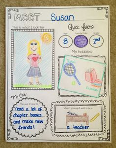 Meet ME! A back to school unit that lets students get to know themselves and one another better during those first few weeks of school! Lots of fun activities and art/writing projects.