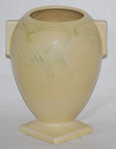 Roseville Pottery Dawn Yellow Vase