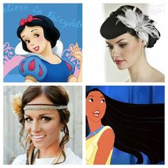 Hair styles inspired by your favorite #Disney princesses #weddinghair #hairaccessories