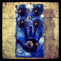 Mojo Hand FX Custom Light Blue Swirl Colossus Fuzz Pedal