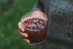 jam jar cocktail with blueberry-lime preserves