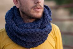 Infinity Scarf  Hand Knitted Extra Long Unisex Cowl by mosgos, $85.00