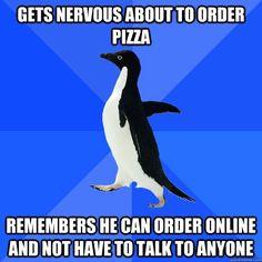 Socially Awkward Penguin. This is wayy too true. @Taylor Jones