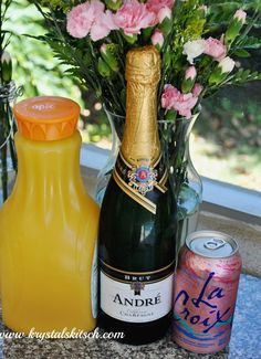 Easy Raspberry Mimosa Cocktail Recipe - Perfect for summer