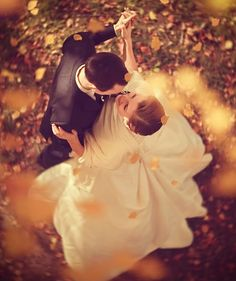 fall wedding love
