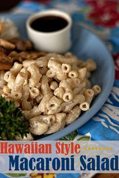 Hawaiian Style Macaroni Salad   heatherlikesfood.com  *add carrot and celery -diced    only use duke's or helm. mayo. food, hawaiian macaroni salad, hawaiian style, yum, eat, recip, pasta, style macaroni, salads