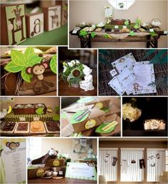 Monkey themed baby shower...love this one.