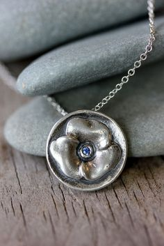 PURPLE Sapphire and Sterling Silver Violet by onegarnetgirl, $138.00