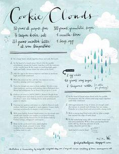 cookie clouds & printable recipe