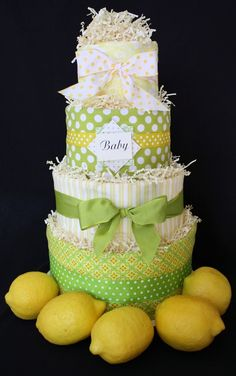 Four-tier diaper cake!!