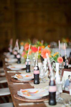 Coke with striped straws | Kate Triano #wedding