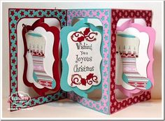 Christmas Candle Circle Spiral Pull Card
