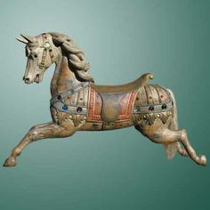 late 19th/early 20th century carosel horse from the facory of Josph Hubner- near Dresden