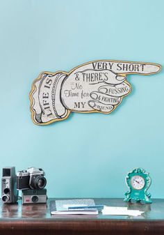 Work It Outside Sign, #ModCloth
