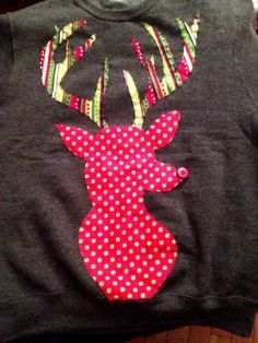 "DIY: Festive Reindeer Sweatshirt: ""The Alternative Ugly Christmas Sweater"""