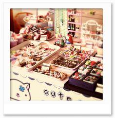 craft fair booth tray displays Miss arkaya, via Flickr