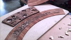 Hand cutting and crafting Italian inlaid wood table top