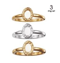 Hammered Stackable Ring Set - Two goldtone and one silvertone ring. Regularly $9.99, buy Avon Rings online at http://eseagren.avonrepresentative.com