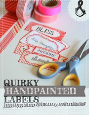 Quirky Handpainted Labels by Mary Ann Moss