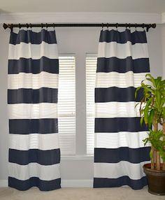 stripe curtain, curtains, white stripe, stripes, blues