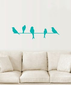Blue Birds on a Wire Decal by Wallquotes.com by Belvedere Designs #zulilyfinds