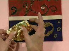 """Como hacer el Cuadro """"Recreando a Klimt"""" - Efectos decorativos y textura sobre madera"""