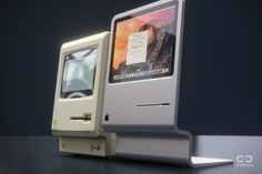 #Apple Macintosh 2014 concept vs. the original #Mac 128K. By Martin Hajek  Super nice