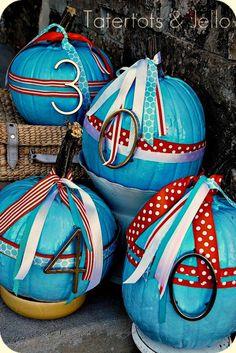 DIY Painted Address Pumpkins!! -- Tatertots and Jello #DIY #Fall