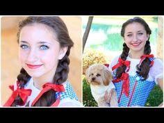 I'll get you my pretty....and your little dog too!   Dorothy braids tutorial! #cutegirlshairstyles #DIY #Halloween #wizardofoz #dorothy #hairstyles