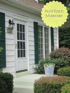 Porch Makeover - Before & After