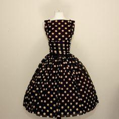 vintage polka dot chiffon